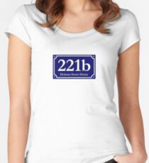 221b - Holmes Sweet Home Women's Fitted Scoop T-Shirt