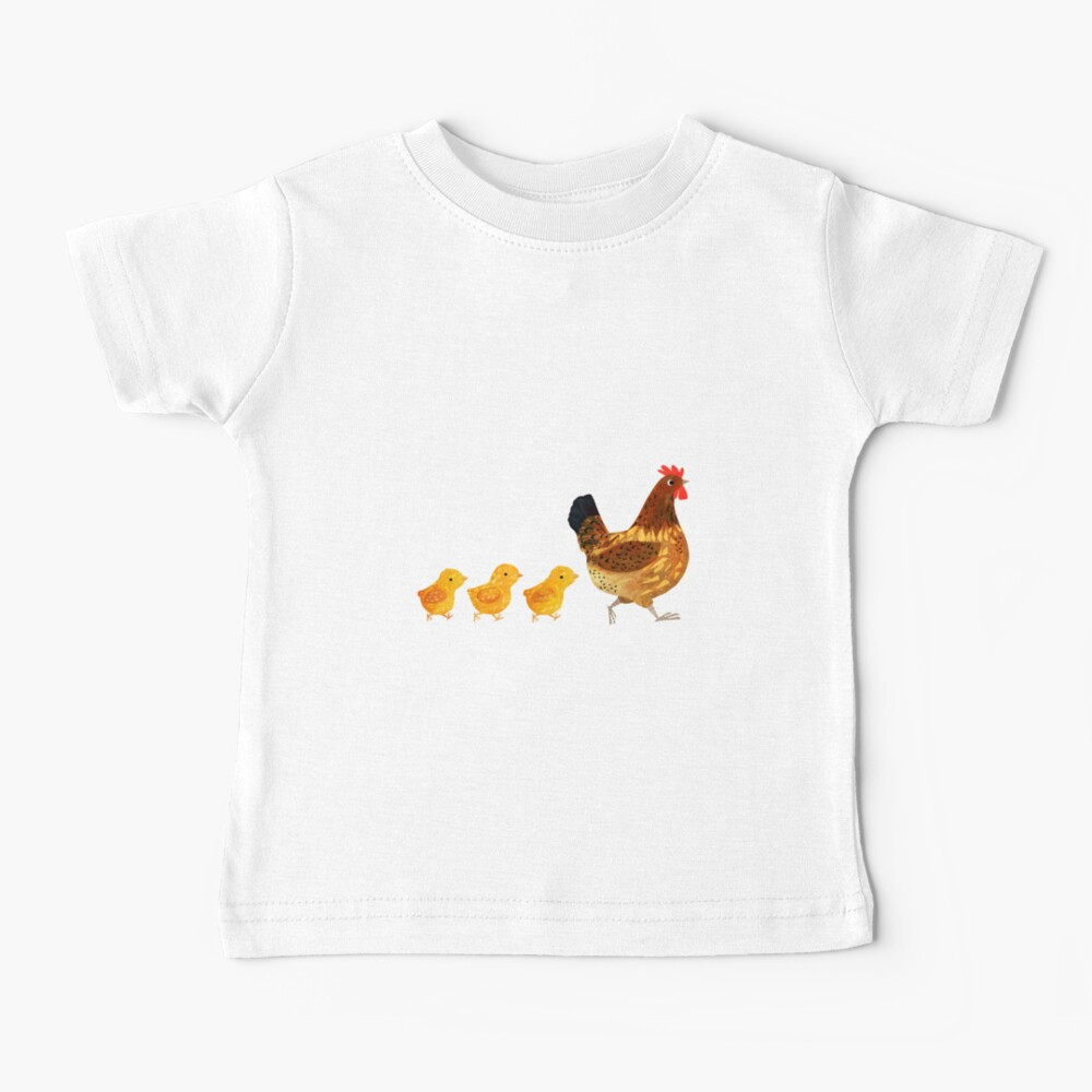 Chicken and chicks Baby T-Shirt
