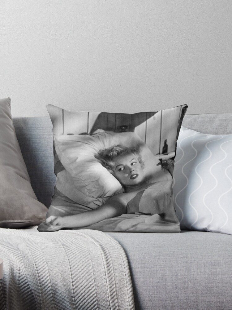 Marilyn Monroe On Pillow Poster