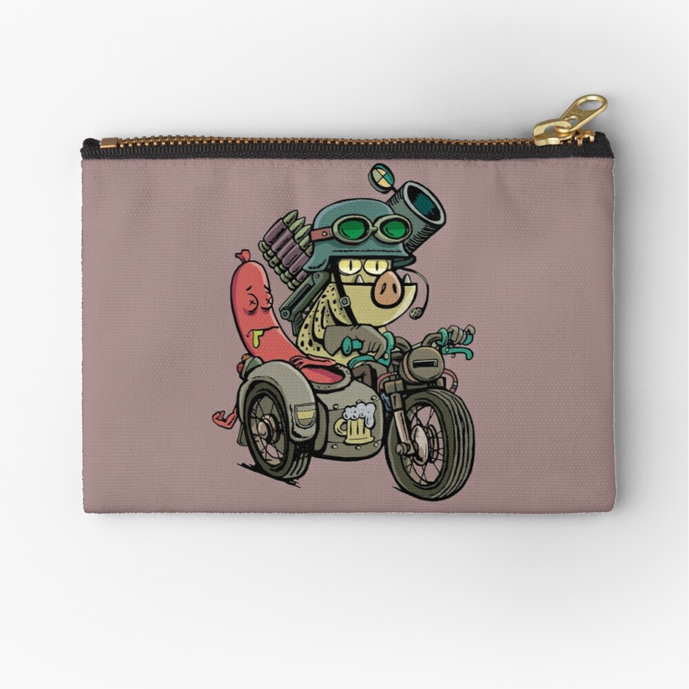 Motorcycle Tandem Zipper Pouch