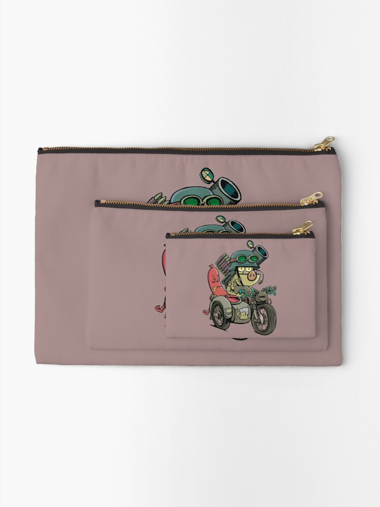 Alternate view of Motorcycle Tandem Zipper Pouch
