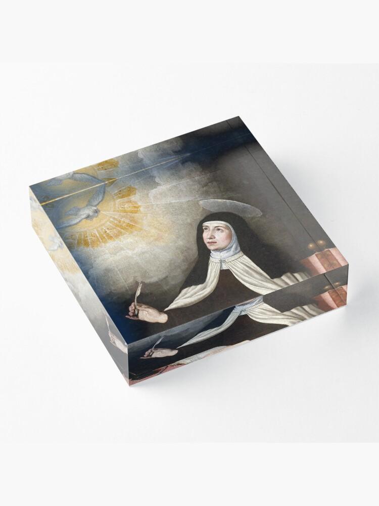 Alternate view of St Teresa of Avila Painting Acrylic Block