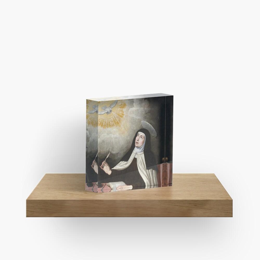 St Teresa of Avila Painting Acrylic Block