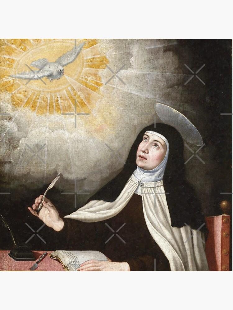 St Teresa of Avila Painting by Beltschazar