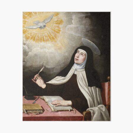 St Teresa of Avila Painting Art Board Print
