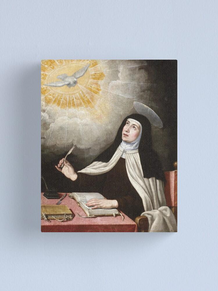Vista alternativa de Lienzo Pintura de Santa Teresa de Ávila