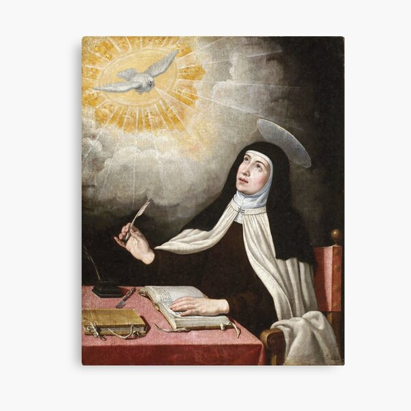 St Teresa of Avila Painting Canvas Print