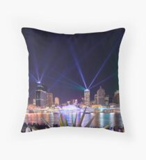 The City of Lights - Brisbane Festival Laser Show Throw Pillow