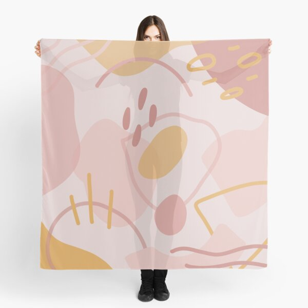 Abstract Shapes in Peach Scarf