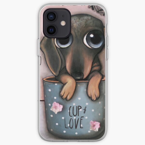 Dachshund inside a cup of Love iPhone Soft Case