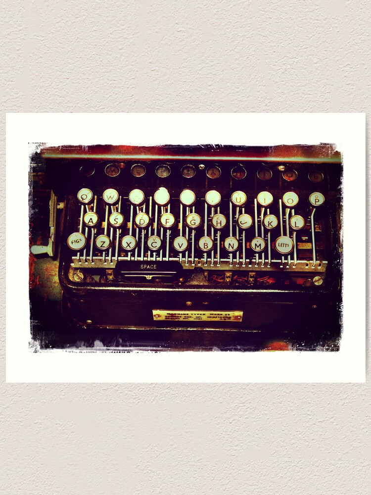 Alternate view of Enigma - Typewriter II Art Print