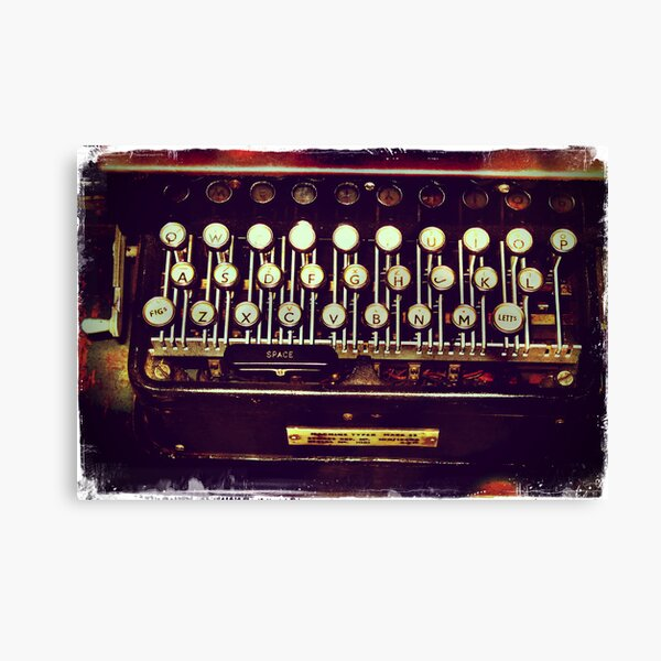 Enigma - Typewriter II Canvas Print