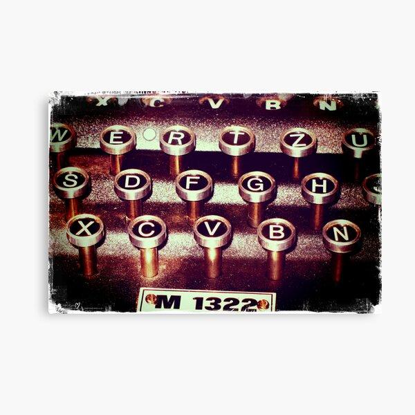 Enigma - Typewriter III Canvas Print