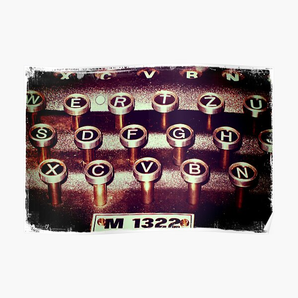 Enigma - Typewriter III Poster