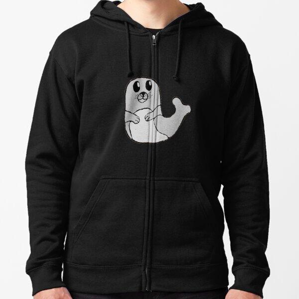 Bobby the cute grey seal  Zipped Hoodie