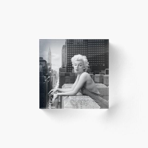 Marilyn Monroe - Things Have Changed - B&W Acrylic Block
