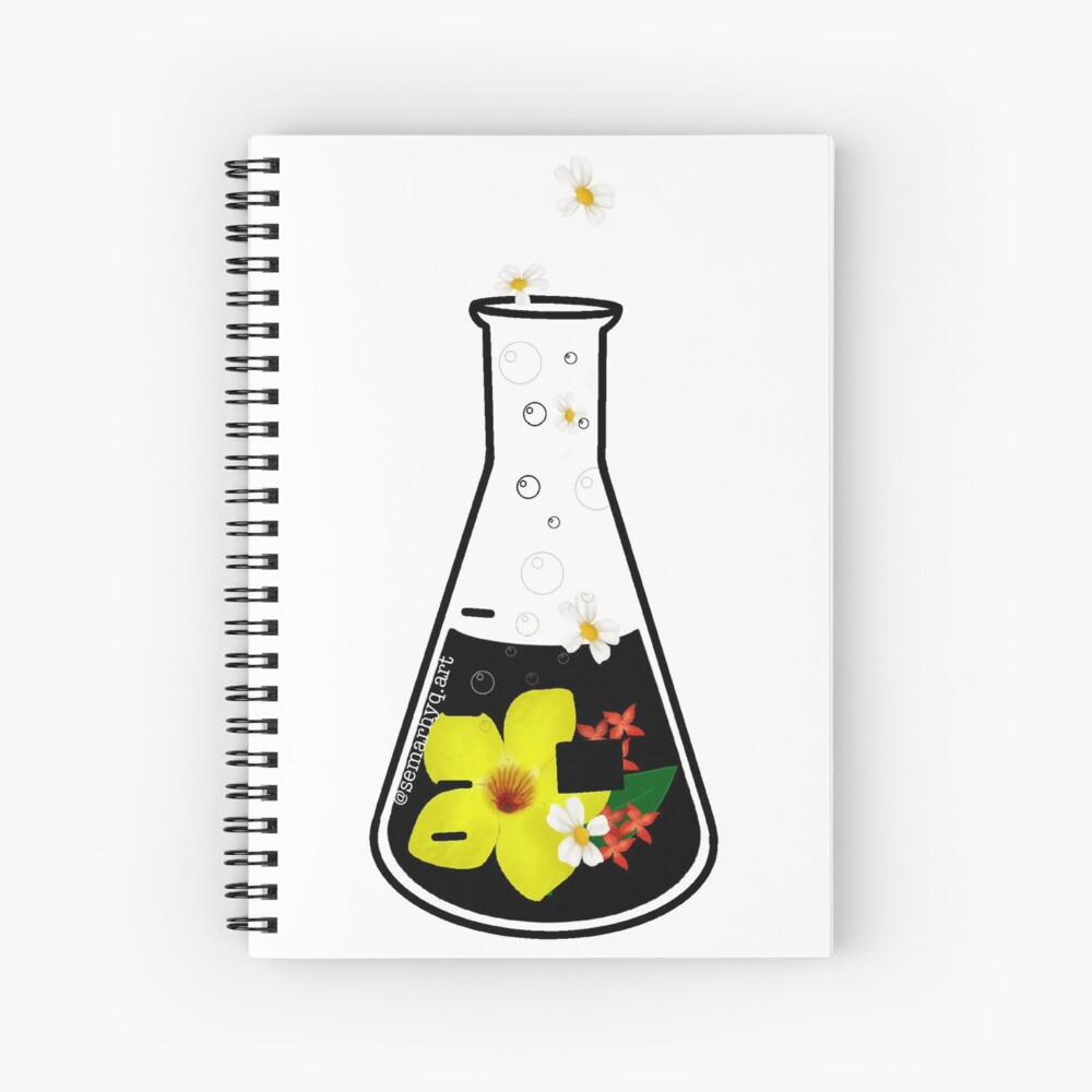 Conical flask Spiral Notebook