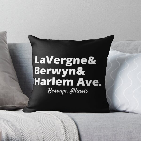 Berwyn Train Stops Throw Pillow
