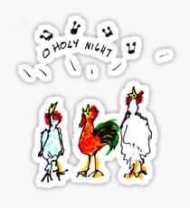 Chicken Carols Sticker