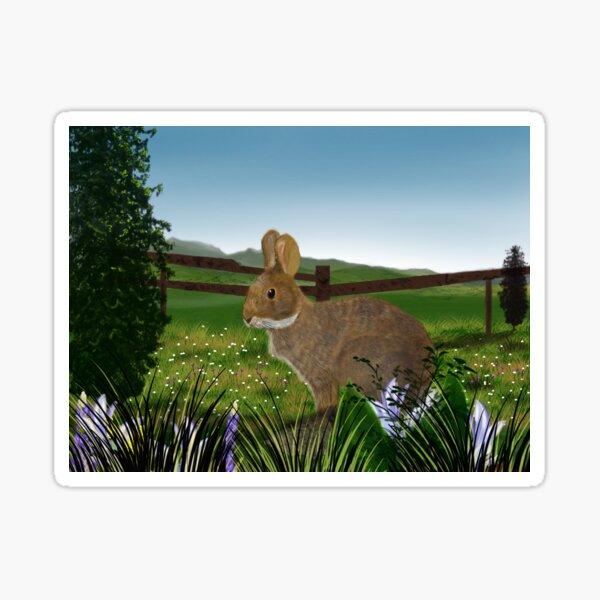 Field Rabbit Sticker