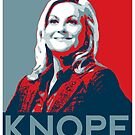 Knope Poster - white lower layer by slitheenplanet