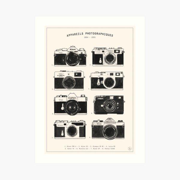 Vintage Cameras Collection Art Print