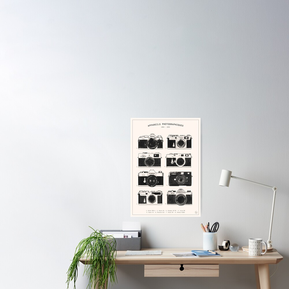 Vintage Cameras Collection Poster