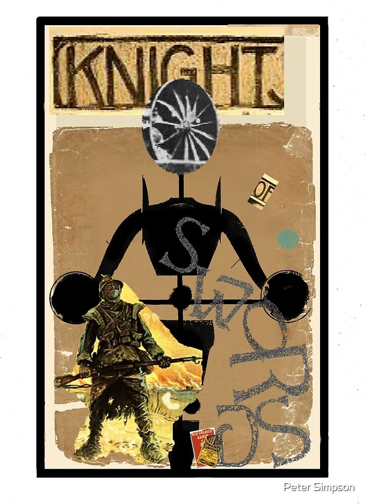 Dada Tarot-Knight of Swords by Peter Simpson