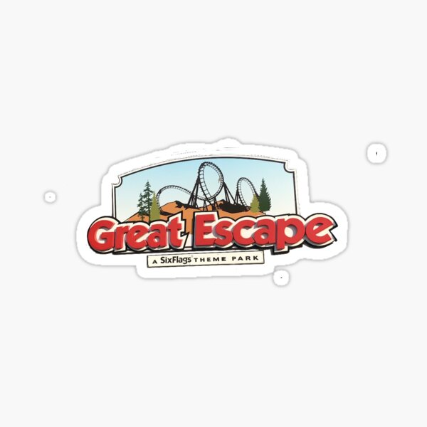 Six Flags Great Escape Logo Sticker Sticker