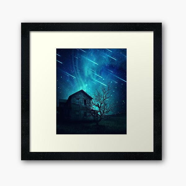No One Home when stars are falling... Framed Art Print