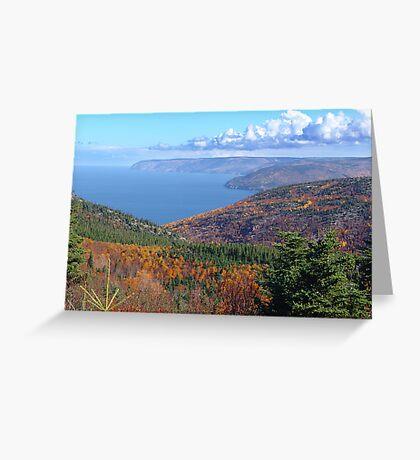 Cape Breton Island, McKenzie Mountain Greeting Card
