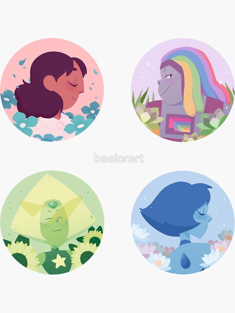 Extended Crystal Gems Sticker set by bealorart