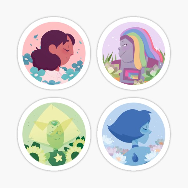 Extended Crystal Gems Sticker set Sticker