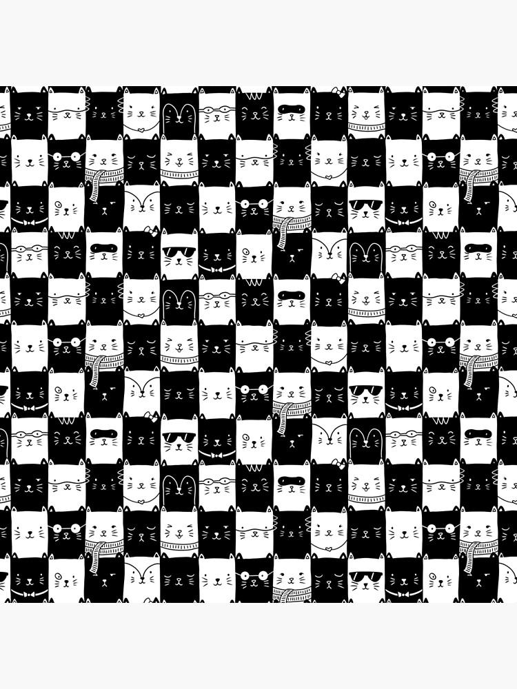 Checkered Kitties by tatihardt