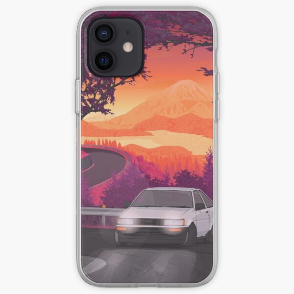 AE86 Corolla touge drift (version 2) Coque souple iPhone