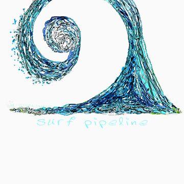 Surf Pipeline I by ronyjackson