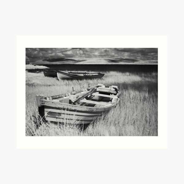 Boat on Lake Carrowmore, Ireland Art Print