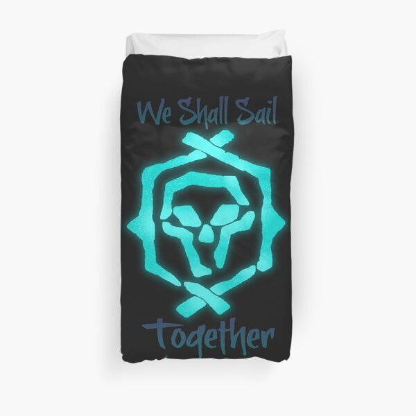 """Sea Of Thieves: Athena """"We Shall Sail Together"""" Duvet Cover"""