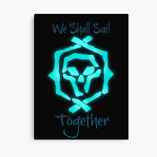 """Sea Of Thieves: Athena """"We Shall Sail Together"""" Canvas Print"""