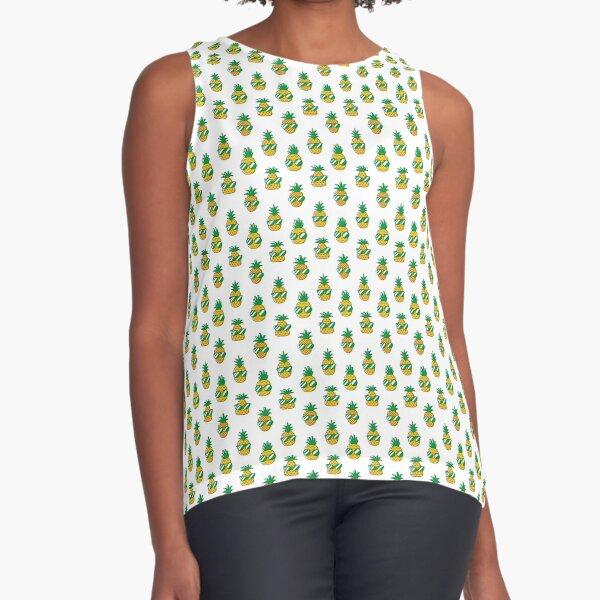 Stylish Pineapples Sleeveless Top