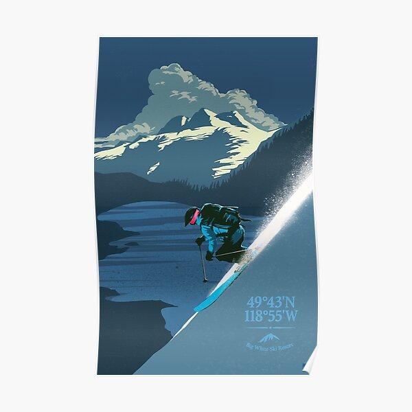 Retro Big White Ski Resort Poster Poster