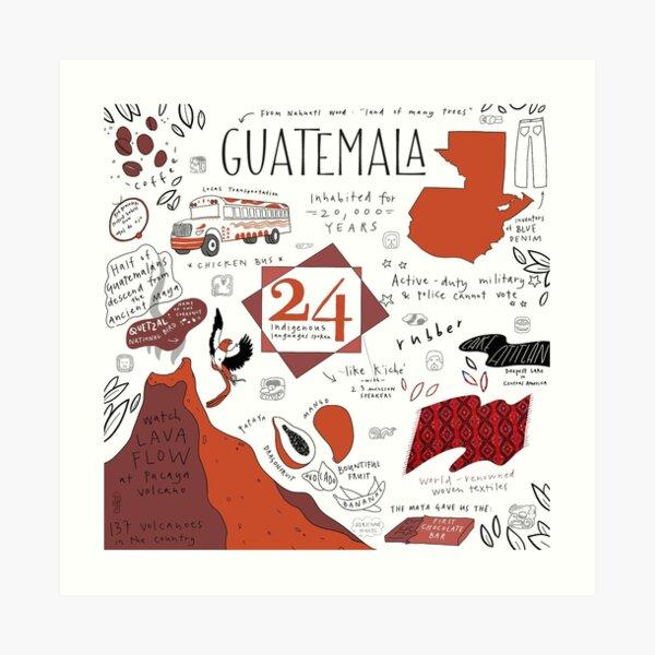 Guatemala Facts  Art Print