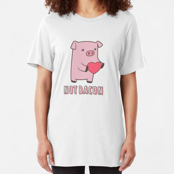 Not Bacon Slim Fit T-Shirt