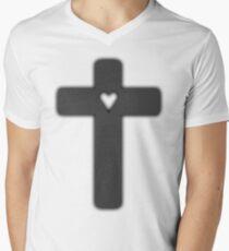 grey Judas cross (lady Gaga) Mens V-Neck T-Shirt