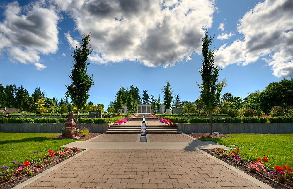 Mausoleum Walkway by Don Guindon