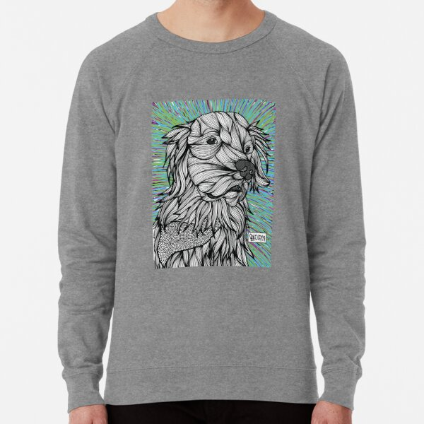 Mati, Liam's brother, the angel Golden Retriever Lightweight Sweatshirt