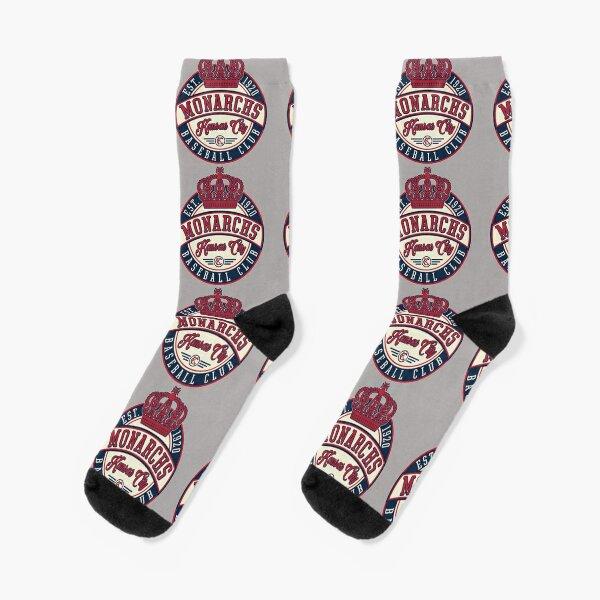 KC Monarchs- Negro Baseball League Retro Socks