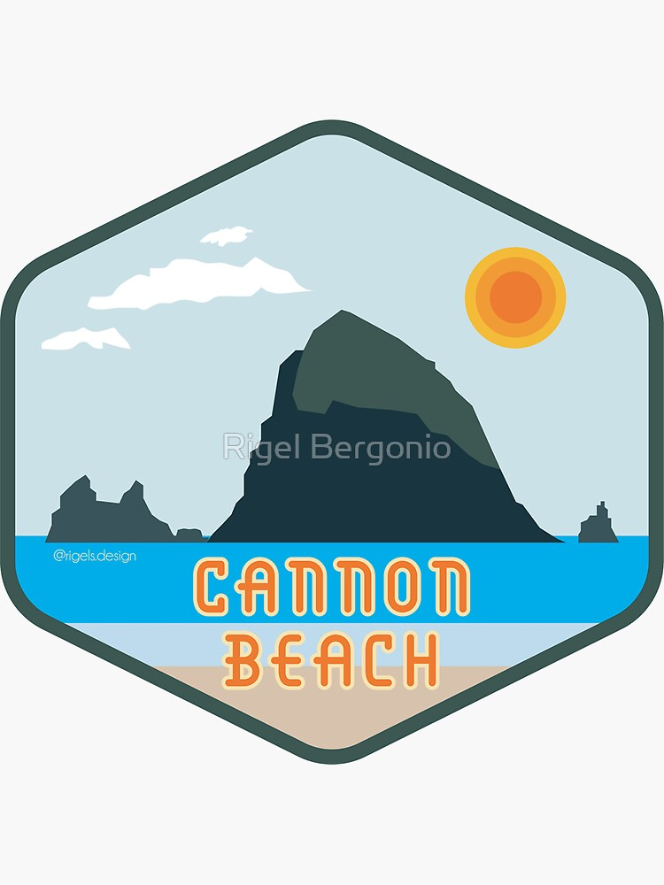 Cannon Beach Haystack Rock Badge by rigels-art