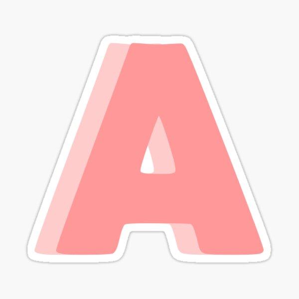 Pink Letter A Sticker