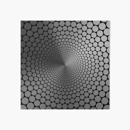 Optical Illusion Angle Gradient Slate on Black NOIR Art Board Print